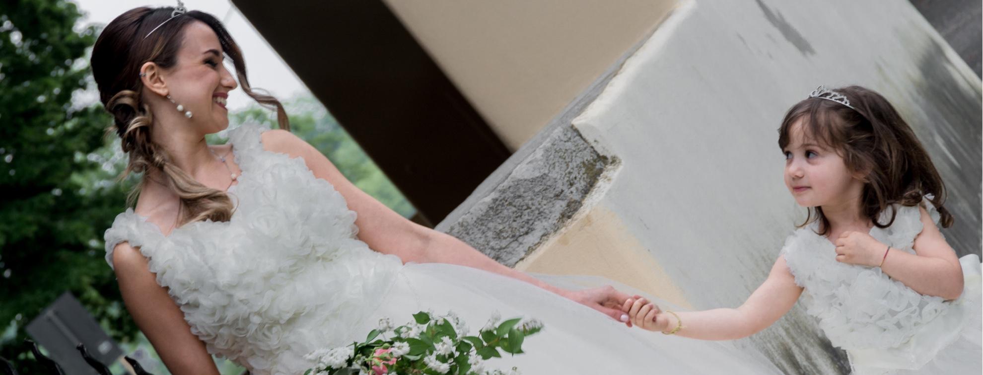 Abiti su misura spose e damigelle sartoria Rosetta Pordenone Treviso